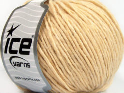 Lot of 8 Skeins Ice Yarns WOOL CORD ARAN (50% Wool) Yarn Dark Cream