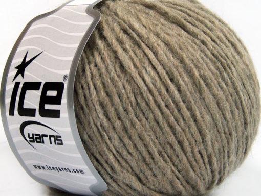 Lot of 8 Skeins Ice Yarns WOOL CORD ARAN (50% Wool) Hand Knitting Yarn Camel