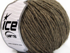 Lot of 8 Skeins Ice Yarns WOOL CORD ARAN (50% Wool) Yarn Brown Melange