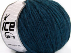 Lot of 8 Skeins Ice Yarns WOOL CORD ARAN (50% Wool) Yarn Dark Teal