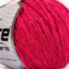 Lot of 8 Skeins Ice Yarns WOOL CORD ARAN (50% Wool) Hand Knitting Yarn Fuchsia