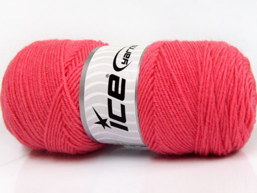 Lot of 4 x 100gr Skeins Ice Yarns BONITO (50% Wool) Hand Knitting Yarn Salmon