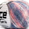 Lot of 10 Skeins Ice Yarns KID MOHAIR FLAMME (37% Kid Mohair) Yarn Red White Blue Shades