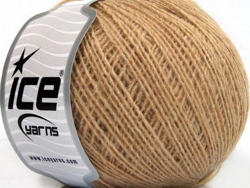 Lot of 8 Skeins Ice Yarns WOOL CORD SPORT (50% Wool) Yarn Cafe Latte