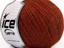 Lot of 8 Skeins Ice Yarns WOOL CORD SPORT (50% Wool) Yarn Dark Copper