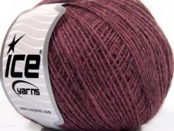 Lot of 8 Skeins Ice Yarns WOOL CORD SPORT (50% Wool) Yarn Light Maroon