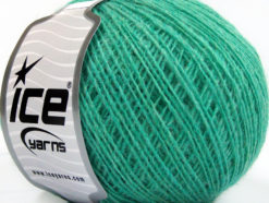 Lot of 8 Skeins Ice Yarns WOOL CORD SPORT (50% Wool) Yarn Mint Green