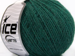 Lot of 8 Skeins Ice Yarns WOOL CORD SPORT (50% Wool) Yarn Dark Green