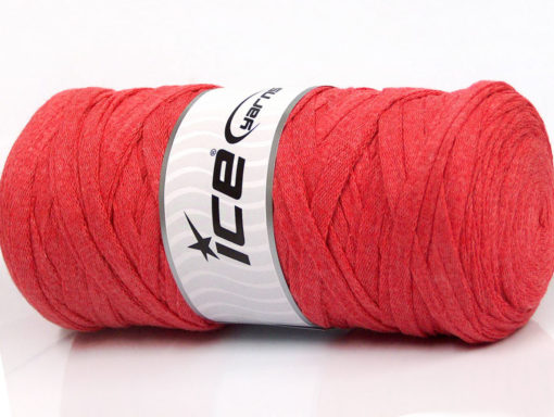 250 gr ICE YARNS JUMBO COTTON RIBBON (100% Recycled Cotton) Yarn Salmon