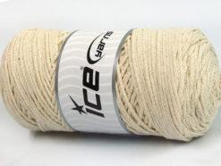 250 gr ICE YARNS MACRAME COTTON (100% Cotton) Hand Knitting Yarn Ecru