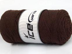 250 gr ICE YARNS MACRAME COTTON (100% Cotton) Hand Knitting Yarn Dark Brown