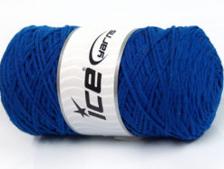 250 gr ICE YARNS MACRAME COTTON (100% Cotton) Hand Knitting Yarn Blue