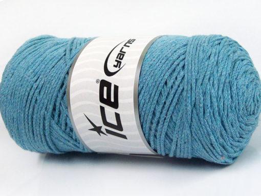 250 gr ICE YARNS MACRAME COTTON (100% Cotton) Hand Knitting Yarn Light Blue