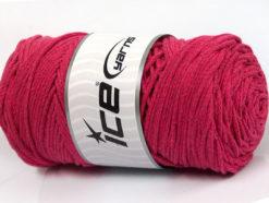 250 gr ICE YARNS MACRAME COTTON BULKY (100% Cotton) Hand Knitting Yarn Fuchsia