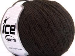 Lot of 8 Skeins Ice Yarns WOOL CORD SPORT (50% Wool) Yarn Dark Brown
