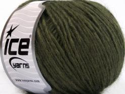 Lot of 8 Skeins Ice Yarns ACRYL CORD WORSTED Hand Knitting Yarn Khaki