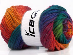 Lot of 4 x 100gr Skeins Ice Yarns AMBIENTE (50% Wool) Yarn Rainbow