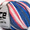Lot of 8 Skeins Ice Yarns MONACO Hand Knitting Yarn Blue Shades Salmon White