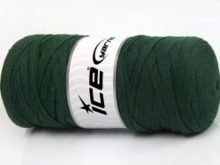 250 gr ICE YARNS JUMBO COTTON RIBBON (100% Recycled Cotton) Yarn Dark Green