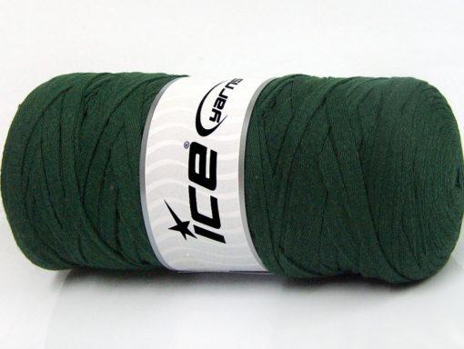 250 gr ICE YARNS JUMBO COTTON RIBBON (100% Recycled Cotton) Yarn Dark Green