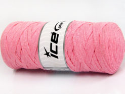 250 gr ICE YARNS JUMBO COTTON RIBBON (100% Recycled Cotton) Yarn Light Pink