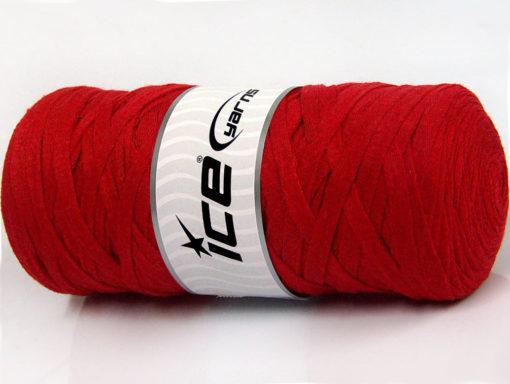 250 gr ICE YARNS JUMBO COTTON RIBBON (100% Recycled Cotton) Yarn Red