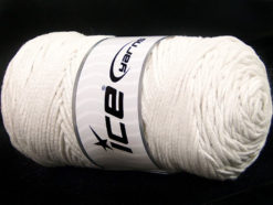 250 gr ICE YARNS MACRAME COTTON BULKY (100% Cotton) Yarn Off White