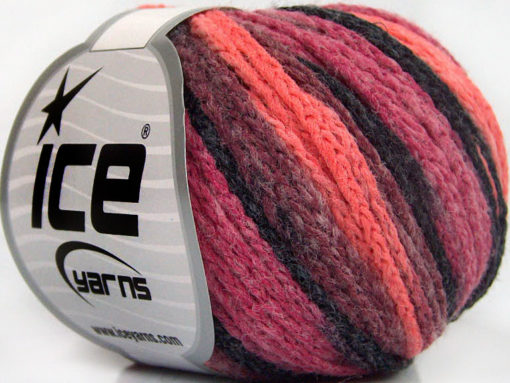 Lot of 8 Skeins Ice Yarns MONACO Hand Knitting Yarn Orchid Salmon Black Pink