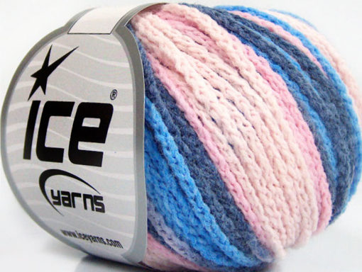 Lot of 8 Skeins Ice Yarns MONACO Hand Knitting Yarn Blue Shades Pink Shades