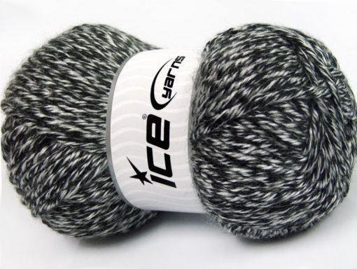 Lot of 2 x 200gr Skeins Ice Yarns ATLAS JUMBO Hand Knitting Yarn Black White
