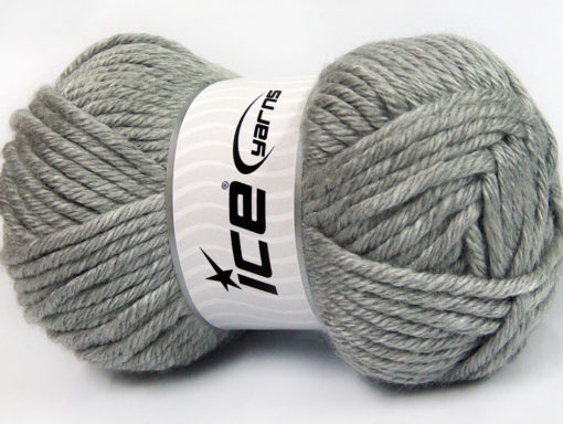 Lot of 2 x 200gr Skeins Ice Yarns ATLAS JUMBO Hand Knitting Yarn Grey Melange