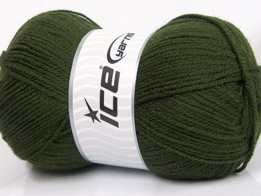 Lot of 4 x 100gr Skeins Ice Yarns GONCA Hand Knitting Yarn Khaki