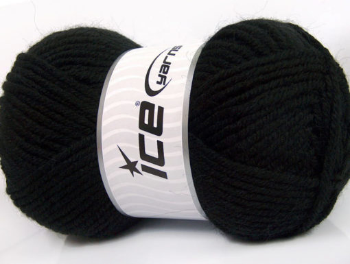 Lot of 4 x 100gr Skeins Ice Yarns ALPACA CLASSIC BULKY (25% Alpaca 25% Wool) Yarn Black