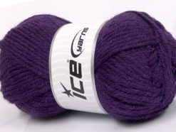 Lot of 4 x 100gr Skeins Ice Yarns ALPACA CLASSIC BULKY (25% Alpaca 25% Wool) Yarn Purple