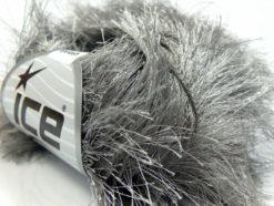 Lot of 8 Skeins Ice Yarns LONG EYELASH Hand Knitting Yarn Grey