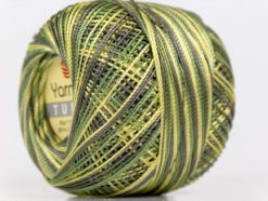 Lot of 6 Skeins YarnArt TULIP (100% MicroFiber) Yarn Green Shades Grey