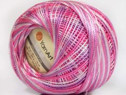 Lot of 6 Skeins YarnArt TULIP (100% MicroFiber) Yarn Violet Lilac White