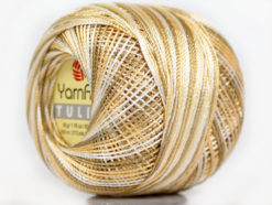 Lot of 6 Skeins YarnArt TULIP (100% MicroFiber) Yarn Khaki Beige Cream