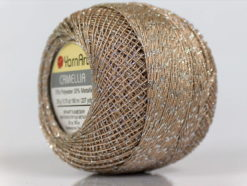 Lot of 10 Skeins YarnArt CAMELLIA (30% Metallic) Yarn Camel Silver