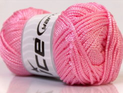 Lot of 4 x 100gr Skeins Ice Yarns MACRAME CORD Hand Knitting Yarn Light Pink