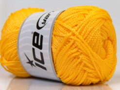 Lot of 4 x 100gr Skeins Ice Yarns MACRAME CORD Hand Knitting Yarn Yellow