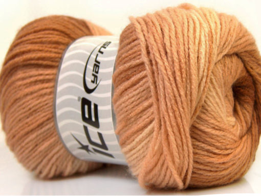 Lot of 4 x 100gr Skeins Ice Yarns MAGIC LIGHT Hand Knitting Yarn Brown Shades
