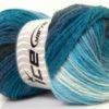 Lot of 4 x 100gr Skeins Ice Yarns MAGIC LIGHT Yarn Blue Shades Black