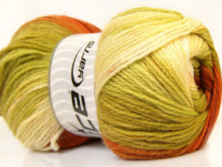 Lot of 4 x 100gr Skeins Ice Yarns MAGIC LIGHT Yarn Copper Green Shades