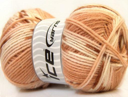 Lot of 4 x 100gr Skeins Ice Yarns BABY DESIGN Hand Knitting Yarn Brown Shades
