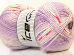 Lot of 4 x 100gr Skeins Ice Yarns BABY DESIGN Yarn Lilac White Pink Green