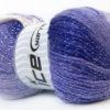 Lot of 4 x 100gr Skeins Ice Yarns MAGIC GLITZ Yarn Lilac White Silver