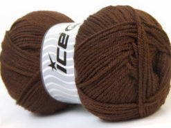 Lot of 4 x 100gr Skeins Ice Yarns GONCA Hand Knitting Yarn Brown