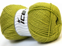 Lot of 4 x 100gr Skeins Ice Yarns GONCA Hand Knitting Yarn Light Green