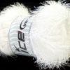 Lot of 4 x 100gr Skeins Ice Yarns EYELASH 100GR Yarn Optical White